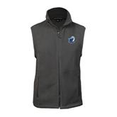 Fleece Full Zip Charcoal Vest-UT Tyler w/ Eagle Head