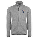 Grey Heather Fleece Jacket-Flag T