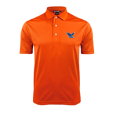 Orange Dry Mesh Polo-Official Logo