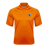 Orange Textured Saddle Shoulder Polo-UT Tyler w/ Eagle Head