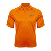 Orange Textured Saddle Shoulder Polo-UT Tyler Arched
