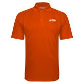 Orange Textured Saddle Shoulder Polo-Primary Athletics Mark