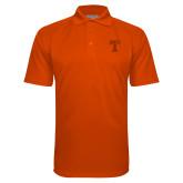 Orange Textured Saddle Shoulder Polo-Flag T