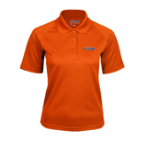 Ladies Orange Textured Saddle Shoulder Polo-UT Tyler Arched