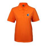 Ladies Easycare Orange Pique Polo-UT Tyler w/ Eagle Head