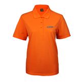 Ladies Easycare Orange Pique Polo-UT Tyler Arched