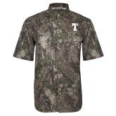Camo Short Sleeve Performance Fishing Shirt-Flag T
