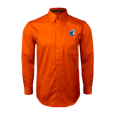 Orange Twill Button Down Long Sleeve-UT Tyler w/ Eagle Head