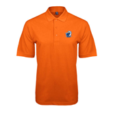 Orange Easycare Pique Polo-UT Tyler w/ Eagle Head