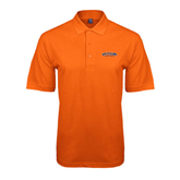 Orange Easycare Pique Polo-UT Tyler Arched