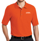 Orange Easycare Pique Polo-Primary Athletics Mark