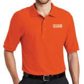 Orange Easycare Pique Polo-UT Tyler Patriots Stacked