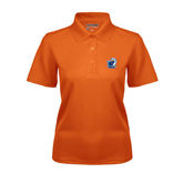 Ladies Orange Dry Mesh Polo-UT Tyler w/ Eagle Head