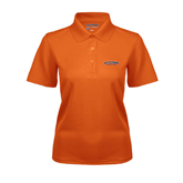 Ladies Orange Dry Mesh Polo-UT Tyler Arched