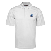 White Mini Stripe Polo-UT Tyler w/ Eagle Head