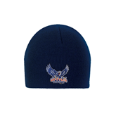 Navy Knit Beanie-Official Logo