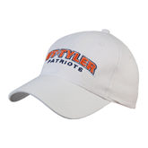 White Heavyweight Twill Pro Style Hat-UT Tyler Arched