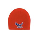 Orange Knit Beanie-Official Logo
