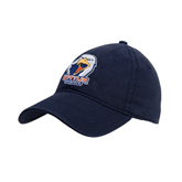 Navy Twill Unstructured Low Profile Hat-UT Tyler w/ Eagle Head