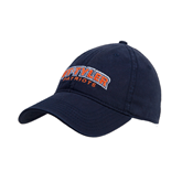 Navy Twill Unstructured Low Profile Hat-UT Tyler Arched