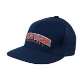 Navy OttoFlex Flat Bill Pro Style Hat-UT Tyler Arched
