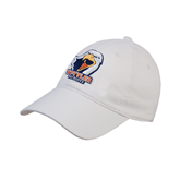 White Twill Unstructured Low Profile Hat-UT Tyler w/ Eagle Head