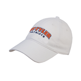 White Twill Unstructured Low Profile Hat-UT Tyler Arched