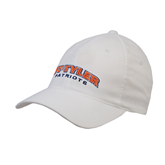 White OttoFlex Unstructured Low Profile Hat-UT Tyler Arched