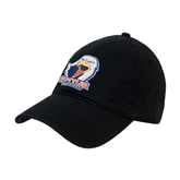 Black Twill Unstructured Low Profile Hat-UT Tyler w/ Eagle Head