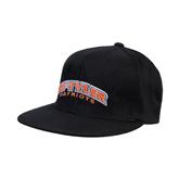 Black OttoFlex Flat Bill Pro Style Hat-UT Tyler Arched