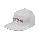 White OttoFlex Flat Bill Pro Style Hat-UT Tyler Arched