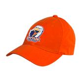 Orange Twill Unstructured Low Profile Hat-UT Tyler w/ Eagle Head