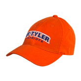 Orange Twill Unstructured Low Profile Hat-UT Tyler Arched