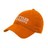 Orange Twill Unstructured Low Profile Hat-UT Tyler Patriots Stacked