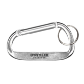 Silver Carabiner with Split Ring-UT Tyler Patriots Engraved