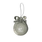 Silver Bulb Ornament-UT Tyler w/ Eagle Head Engraved