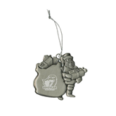 Pewter Santa Ornament-UT Tyler w/ Eagle Head Engraved