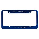 Metal Blue License Plate Frame-Patriots
