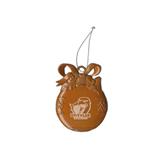 Orange Bulb Ornament-UT Tyler w/ Eagle Head Engraved