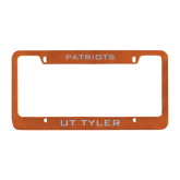 Metal Orange License Plate Frame-Patriots