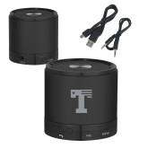 Wireless HD Bluetooth Black Round Speaker-Flag T Engraved