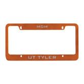 Mom Metal Orange License Plate Frame-Mom