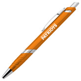 Milo Orange Pen w/Blue Ink-University of Tyler Texas Patriots Stacked