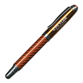 Carbon Fiber Orange Rollerball Pen-UT Tyler Patriots Engraved