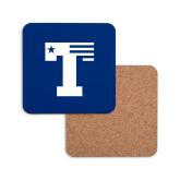 Hardboard Coaster w/Cork Backing-Flag T