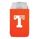Neoprene Orange Can Holder-Flag T