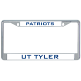 Metal License Plate Frame in Chrome-UT Tyler