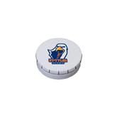 White Round Peppermint Clicker Tin-UT Tyler w/ Eagle Head