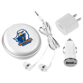 3 in 1 White Audio Travel Kit-UT Tyler w/ Eagle Head