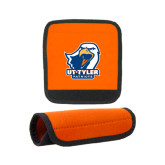 Neoprene Orange Luggage Gripper-UT Tyler w/ Eagle Head